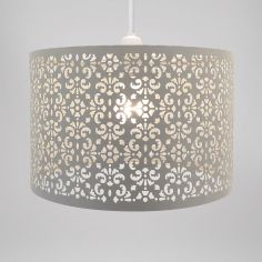 Large Marrakech Metal Light Shade - Oatmeal Natural