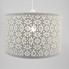 Large Marrakech Metal Light Shade - White