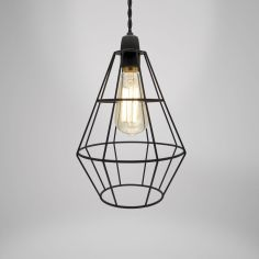 Shoreditch Metal Light Shade Fitting - Black
