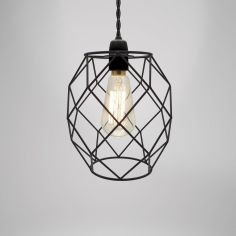 Camden Metal Light Shade Fitting - Black