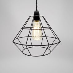 Spitalfields Metal Light Shade Fitting - Black