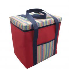Stripe Cooler Picnic Sandwich Bag - Red