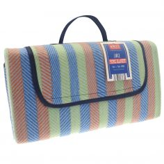 Multi-Coloured Stripe Picnic Blanket