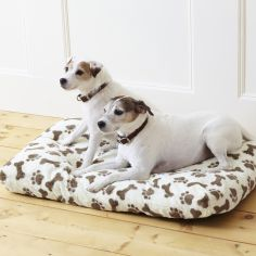 Delux Memory Foam Paw Print Pet Bed