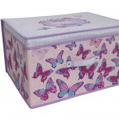 Pink Butterfly Jumbo Storage Chest