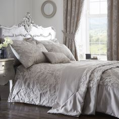 Luxury Howard Jacquard Duvet Cover Set - Silver Grey