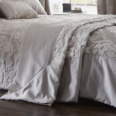 Luxury Howard Jacquard Bedspread Set - Silver Grey