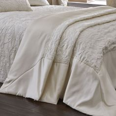 Luxury Spencer Jacquard Bedspread Set - Ivory Cream
