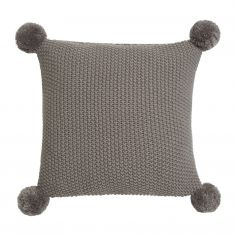 Sula Knitted Filled Cushion - Grey