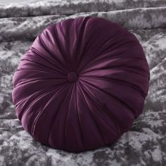 Maiko Filled Round Cushion - Plum Purple
