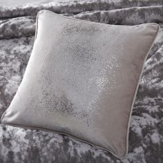 Cosmos Star Filled Cushion - Silver