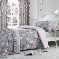 Tulip Floral Duvet Cover Set - Blush Pink