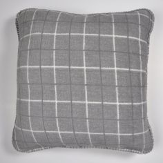 Kilburn Check Cushion Cover - Grey