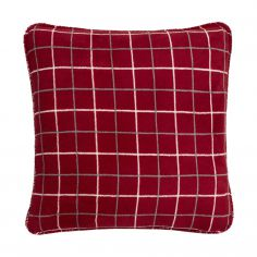 Kilburn Check Cushion Cover - Red