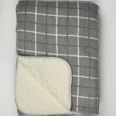 Kilburn Check Throw Blanket - Grey