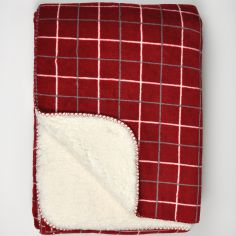 Kilburn Check Throw Blanket - Red