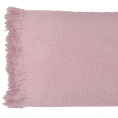 Alexa Fringed Tassle Throw - Blush Pink