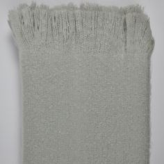 Alexa Fringed Tassle Throw - Silver Grey
