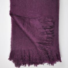 Alexa Fringed Tassle Throw - Plum Purple