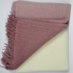 Roxford Ombre Tassle Throw - Blush Pink