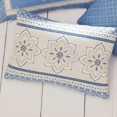 Shantar Unfilled Boudoir Cushion - Blue