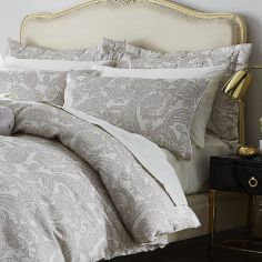 Catherine Lansfield Luxury Opulent Jacquard Pillowshams - Champagne Cream