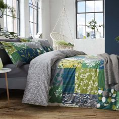Appletree Floral Alvine 100% Cotton Duvet Cover Set - Green Multi