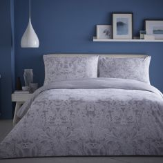 Appletree Satira Paisley 100% Cotton Reversible Duvet Cover Set - Grey
