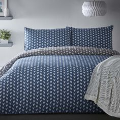 Appletree Dari Motif 100% Cotton Reversible Duvet Cover Set - Blue