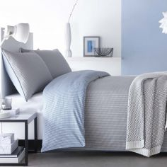 Appletree Loft Chevron 100% Cotton Duvet Cover Set - Blue