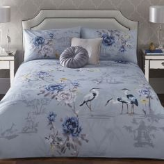 Appletree Kumiko Floral 100% Cotton Duvet Cover Set - Teal Blue