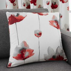 Kiera Floral Cushion Cover - Red