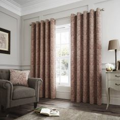 Whitcliffe Paisley Weave Fully Lined Eyelet Curtains - Multi