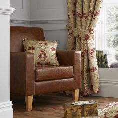 Burford Opulent Jacquard Damask Cushion Cover - Red Gold