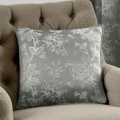 Ilsa Floral Cushion Cover - Silver