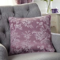 Ilsa Floral Cushion Cover - Heather Pink