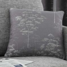 Elmwood Trees Cushion Cover - Graphite