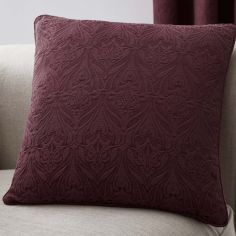 Voysey Damask Cushion Cover - Ruby Red