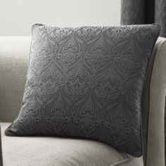 Voysey Damask Cushion Cover - Graphite