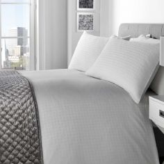 Trieste 100% Cotton Duvet Cover Set - White