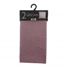 Embossed Two-Pack Cushion Covers - Mauve