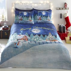 Glow in the Dark Christmas Duvet Cover Set