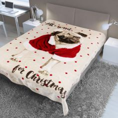 Pug Christmas Mink Supersoft Blanket Fleece Throw
