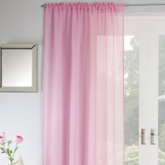 Jewel Sparkle Slot Top Voile Curtain Panel - Pink