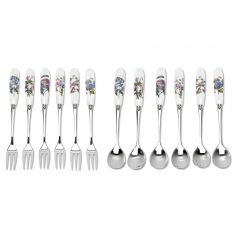 Botanic Garden Pastry Forks and Tea Spoons Set of 12