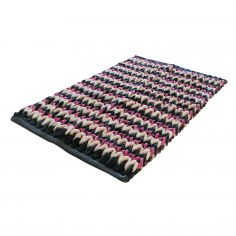Bright Chenille Plush Super Soft Bath Mat - Pink