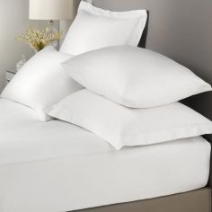 Signature 100% Cotton Extra Deep Fitted Sheet - White