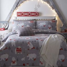 Polar Bear Christmas Duvet Cover Set