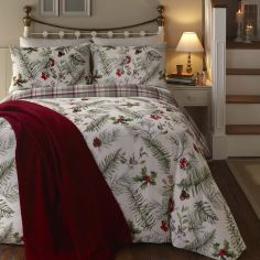 Winter Foliage Christmas Duvet Cover Set