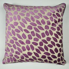Abbot Velvet Leaf Reversible Cushion Cover - Purple